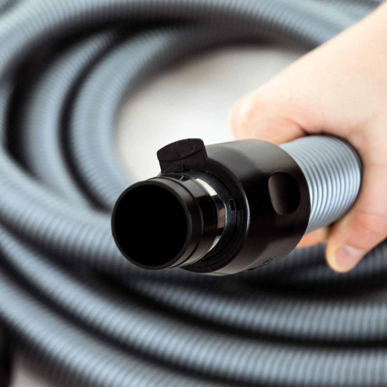 Komfort Schlauch f/ür Zentralstaubsauger passend f/ür viele Marken und Anbieter 7.5m L/änge Staubsaugeranlage