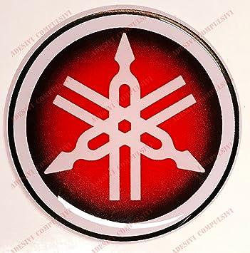 Adesivi Compulsivi - Escudo, logotipo, calcamonía Yamaha, adhesivo de resina, efecto 3D