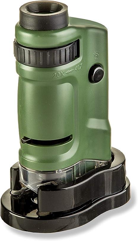 Extrem Leistungsstarkes Carson 20 40x Microbrite Taschenmikroskop Mit Led Beleuchtung Gewerbe Industrie Wissenschaft