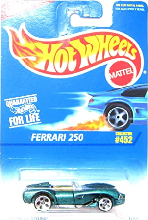 Hot Wheels Ferrari 250 452 5 Dot Wheels 1 64 Scale By Hot Wheels Amazon De Spielzeug