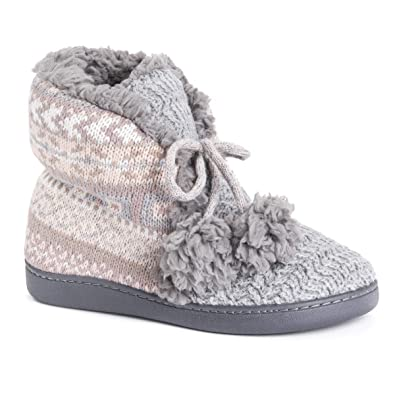 ef8b6f9db49fb Amazon.com | MUK LUKS Women's Lulu Bootie Slippers | Slippers