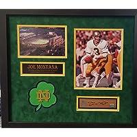 $299 » Joe Montana Notre Dame Fighting Irish Signed Autograph Custom Framed 20x23 Game Used Stadium Bench Slab Steiner Sports GTSM…
