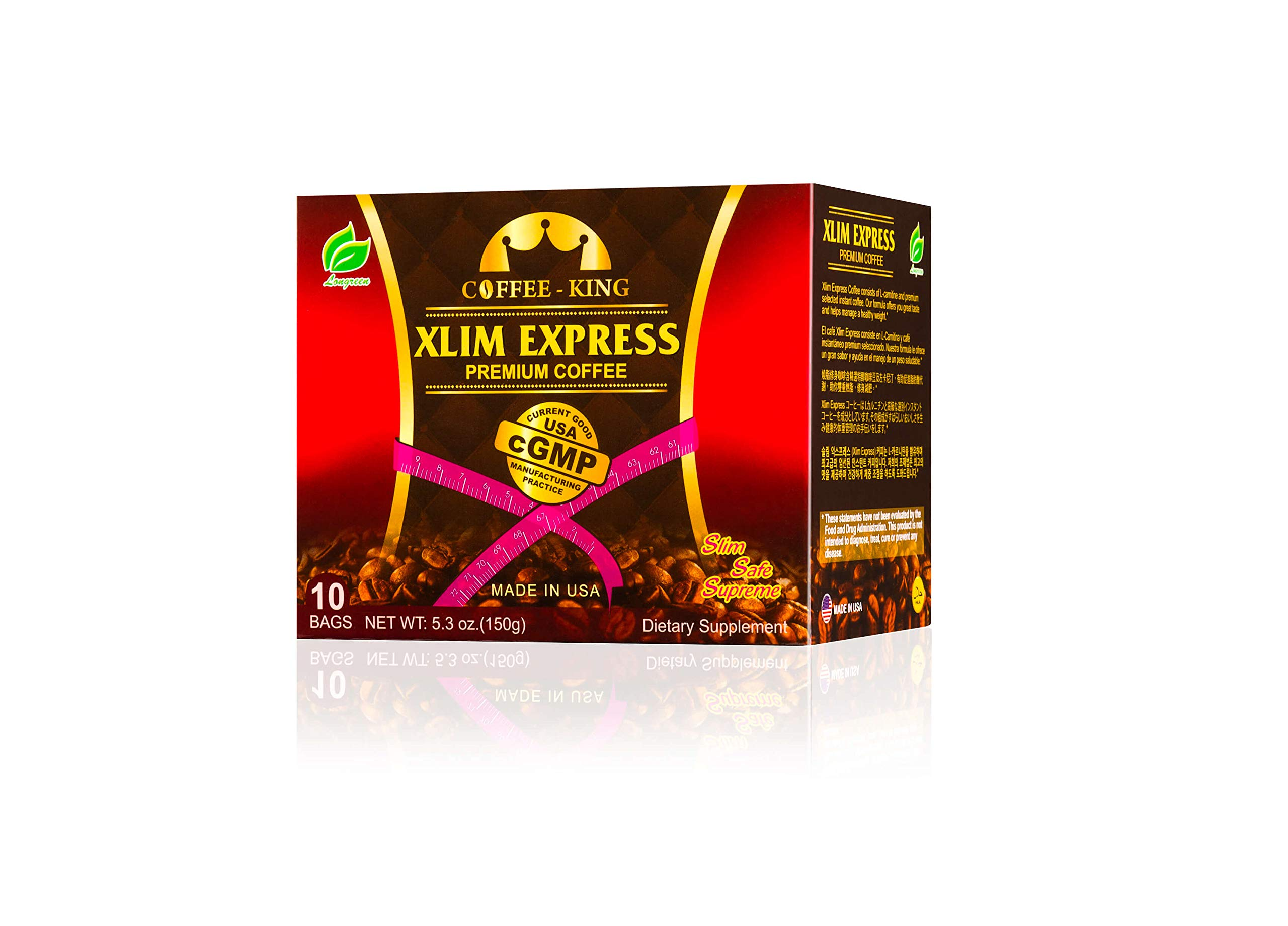 Xlim Express Weight Loss Coffee(10 Sachets/Box) with L-Carnitine. 100% Natural and no side effect by longreen corporation