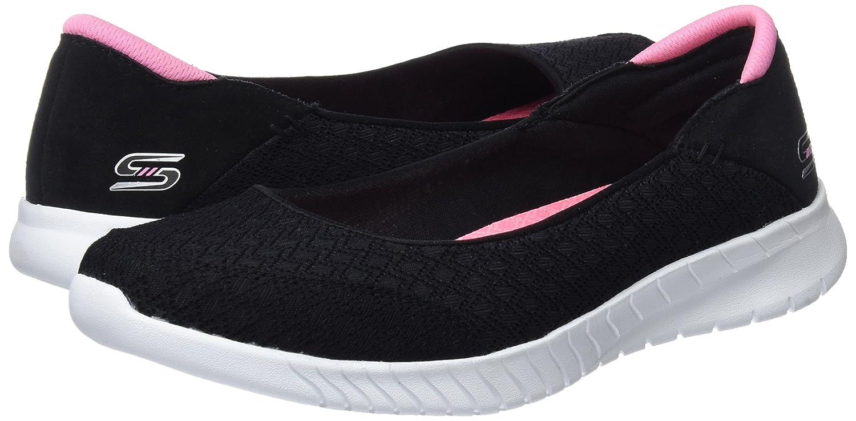 Skechers Damen Schwarz Wave-Lite-Don't Mention It Sneaker Schwarz Damen (schwarz/Pink) d6cd24