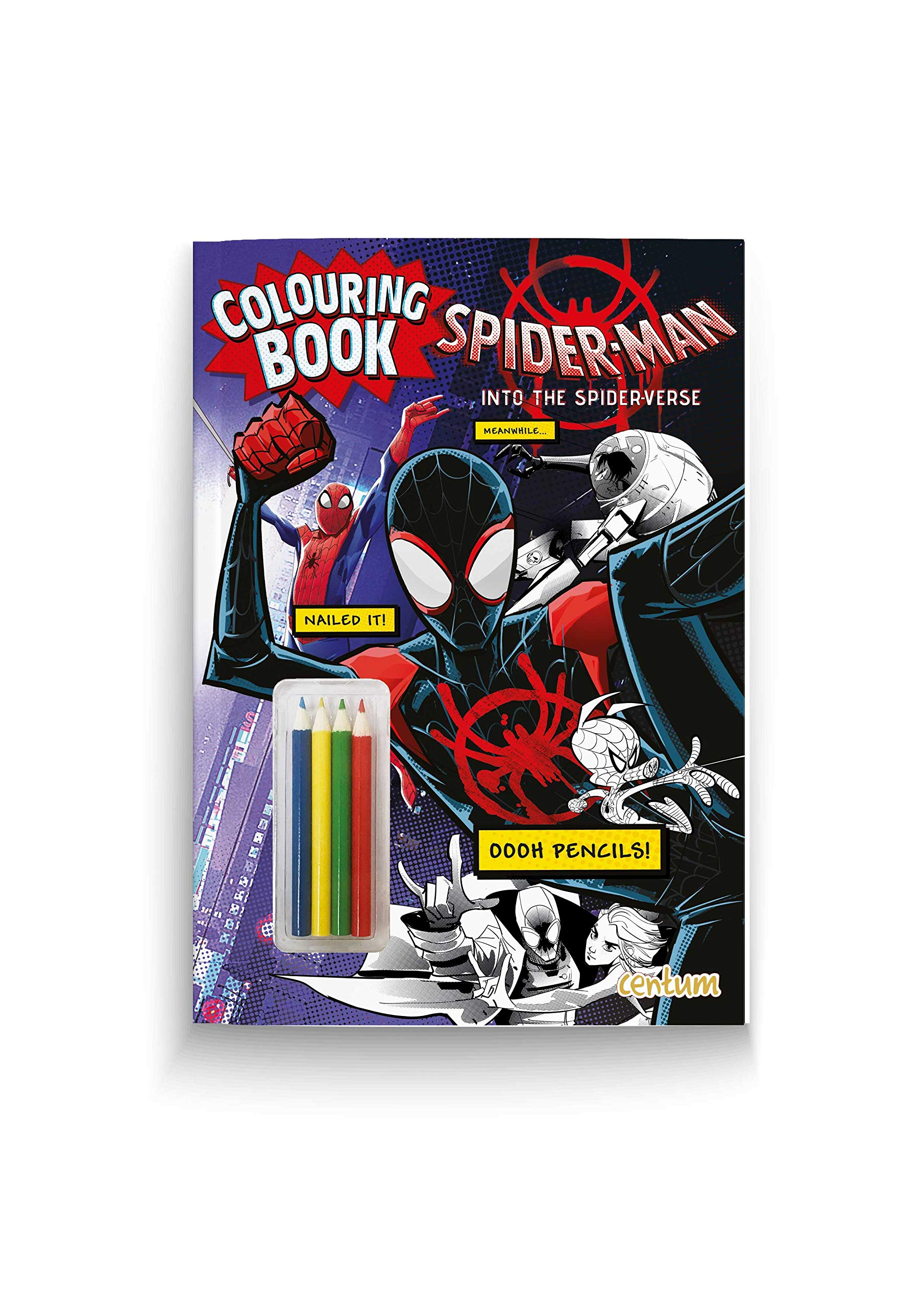 Spider Man Into The Spider Verse Colouring Book With Pencils