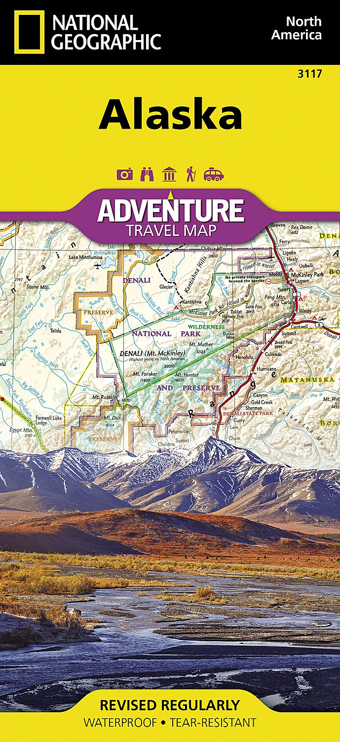 Alaska National Geographic Adventure Map National Geographic Maps