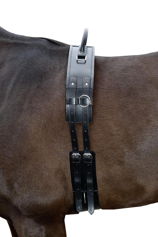 HKM Sports Equipment HKM HKM HKM allungo Tracolla con maniglia in pelle, Nero, Shetty b01373