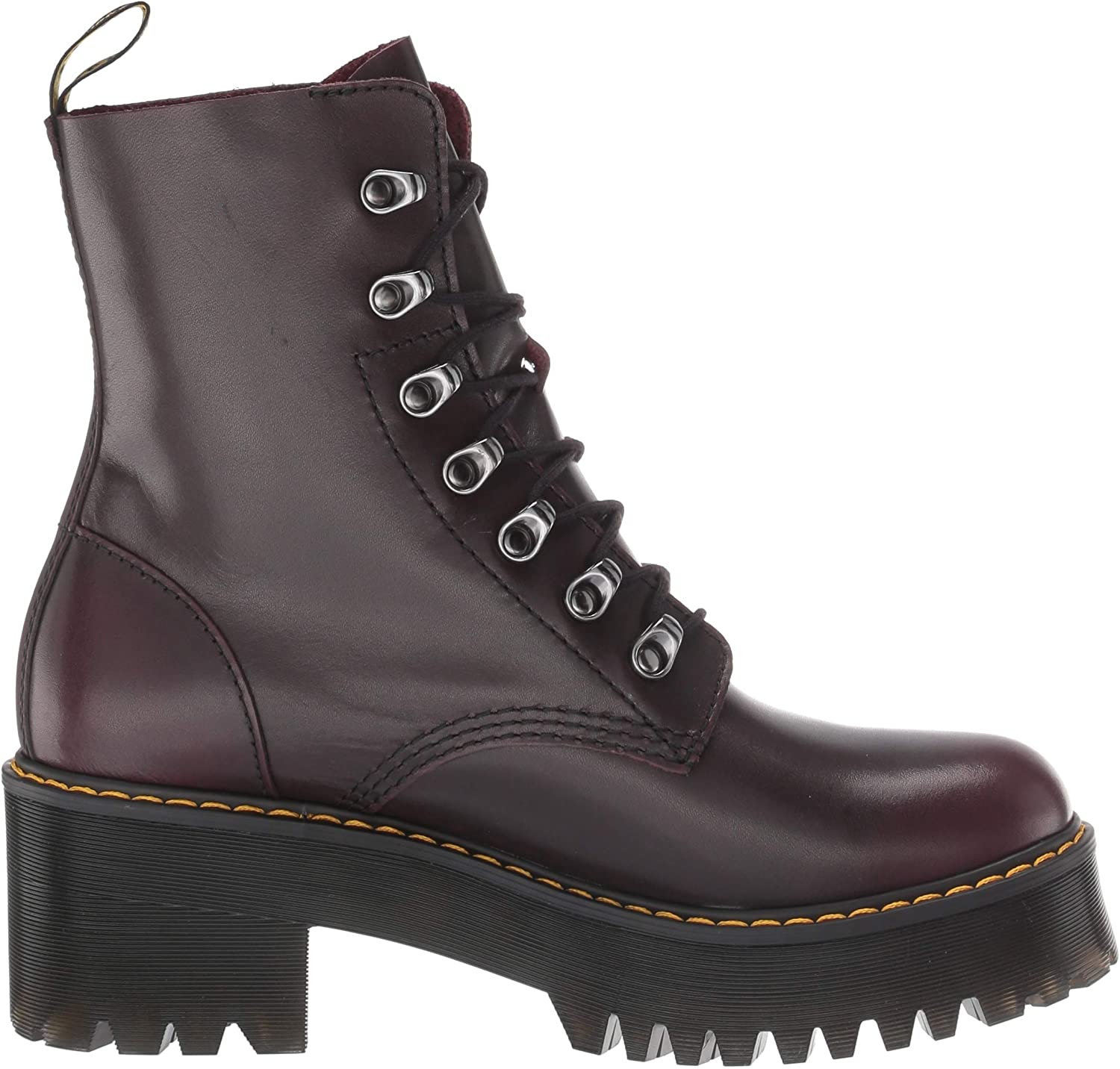 Amazon.com | Dr. Martens Women's Leona Fashion Boot | Mid-Calf