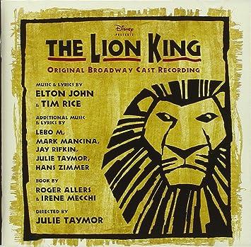 John Elton Rice Tim The Lion King Original Broadway Cast Amazon Com Music