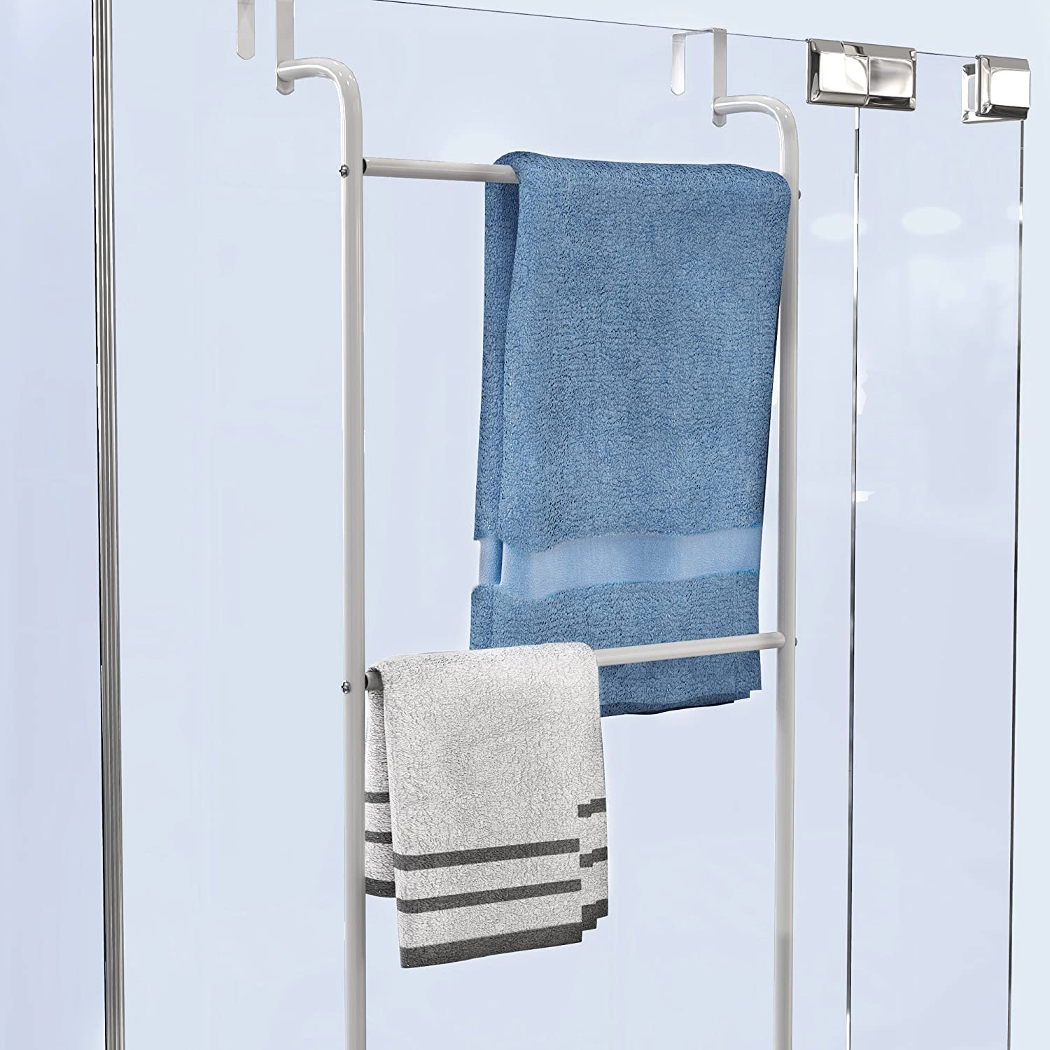 Amazon.com: Lavish Home Over The Door Towel Rack-Bathroom or Shower ...