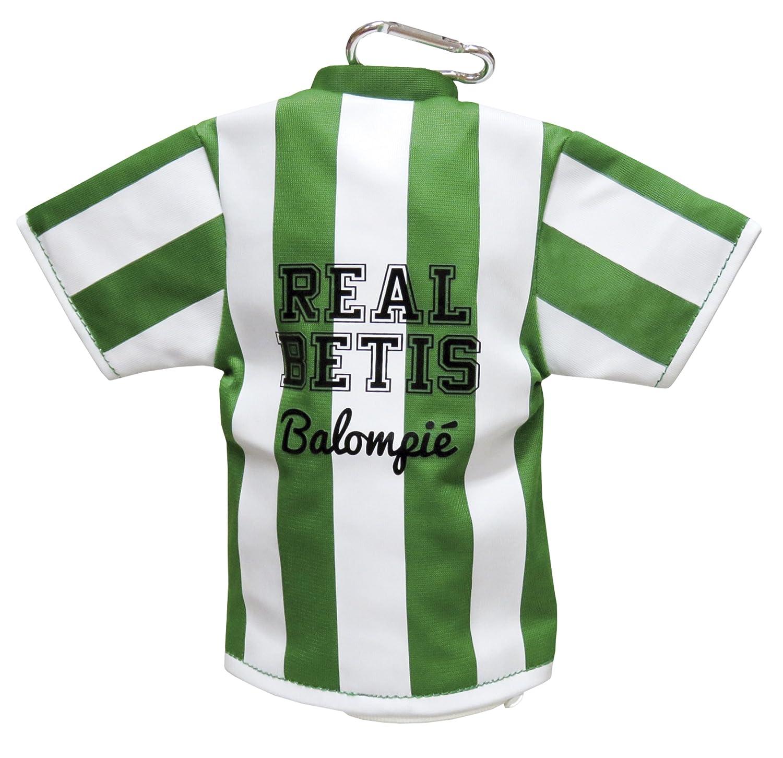 Real Betis BALOMPIE Portatodo con Forma de Camiseta y mosqueton: Amazon.es: Juguetes y juegos