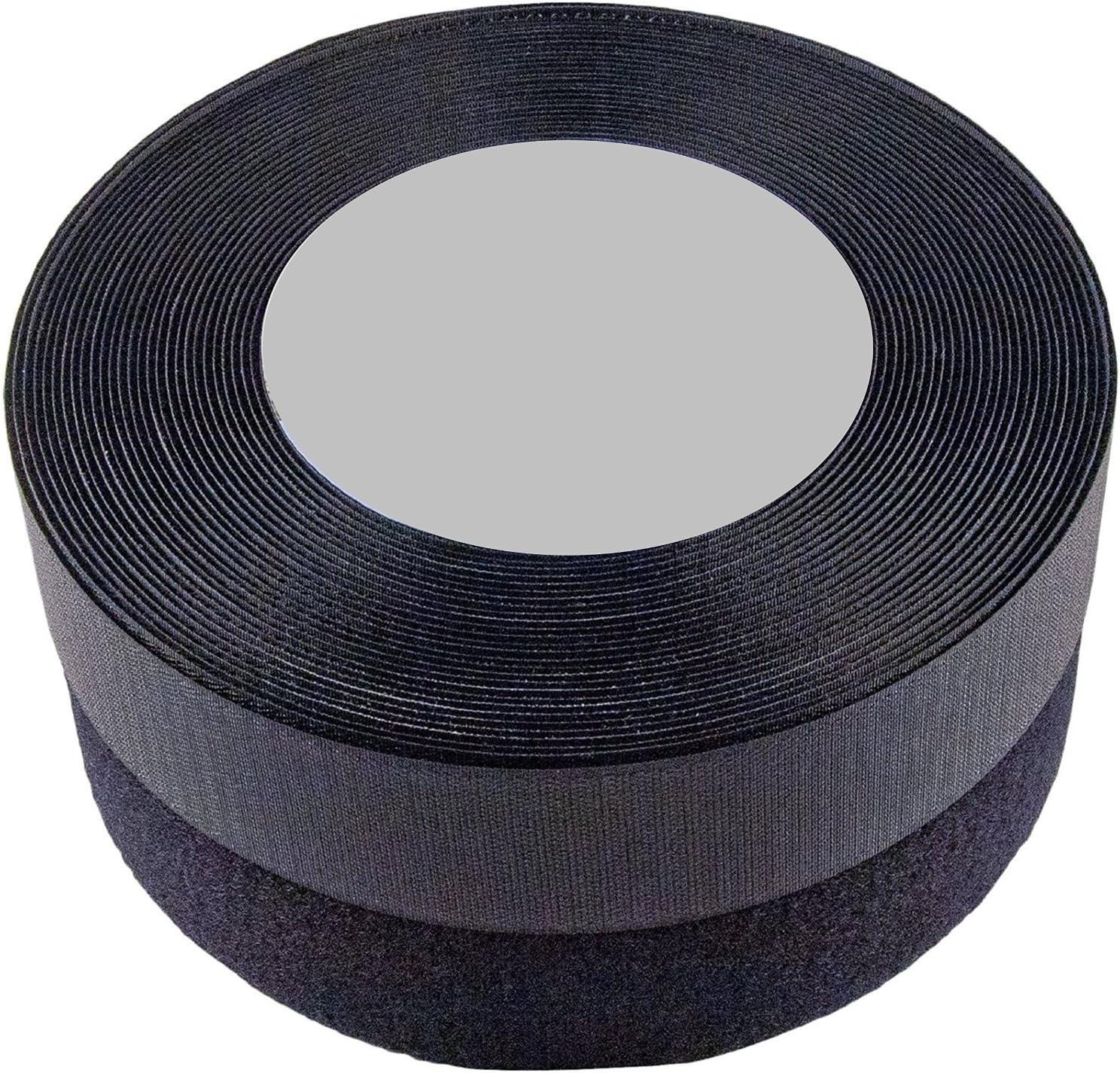 1.5 inch, 10 yards SPARIK ENJOY TM 1.5 Inches Black Sew on Hook and Loop Strips Fabric