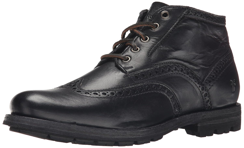 schwarz Soft Vintage Leather FRYE Men& 039;s Phillip Wingtip Stiefel