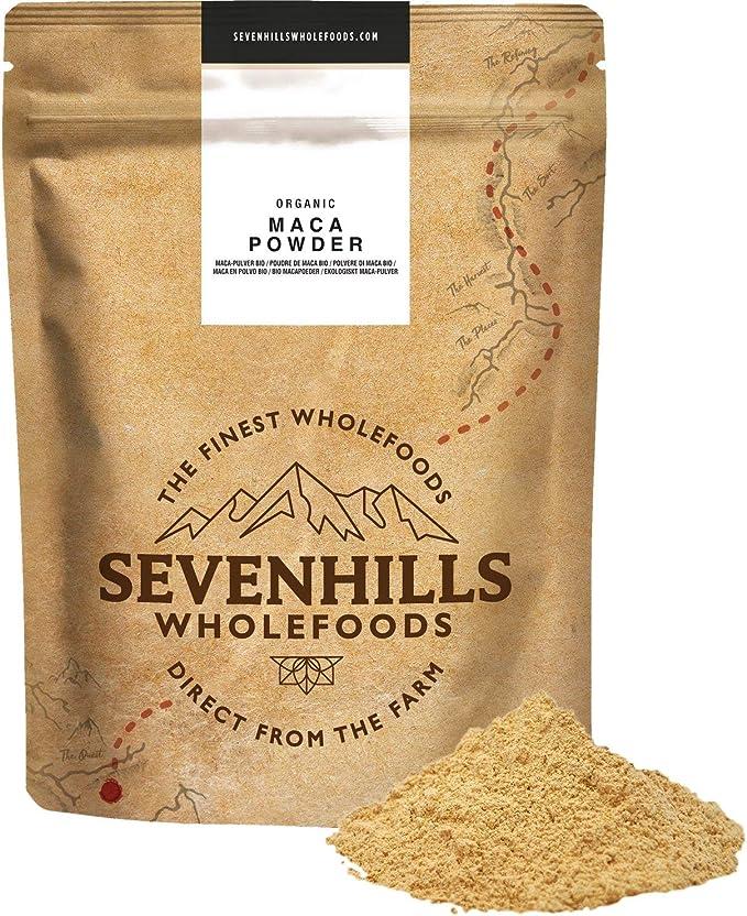 Sevenhills Wholefoods Maca Cruda En Polvo Orgánico 500g