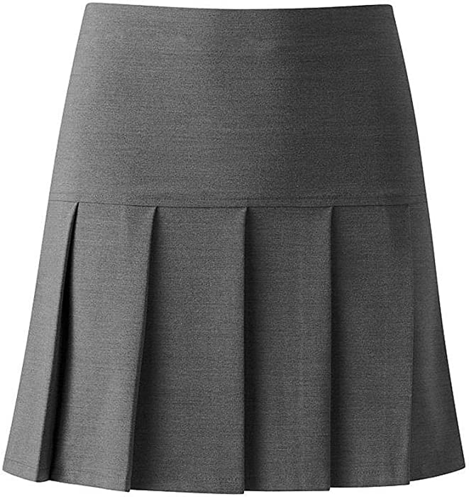 1b8e4ef94 Unbranded New Girls All Round Pleated Drop High Waist Kids School Uniform  Skirts 5-16 Year[Grey,13-14 Years]: Amazon.co.uk: Clothing