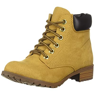 Soda Womens Equity-S Padded Collar Ankle Lace Up Boot | Ankle & Bootie
