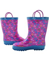 Shopkins Girls Cold Weather Rainboots with Rear Pull Tabs