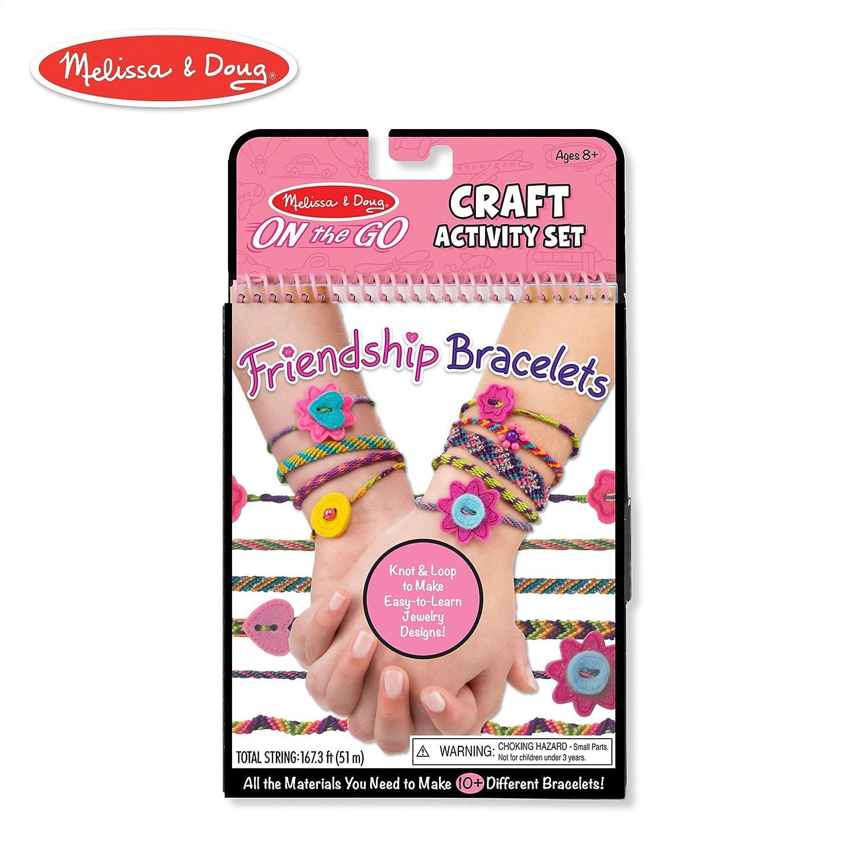 de96940c3a763 Melissa & Doug On-the-Go Friendship Bracelets Craft Activity Set (Makes 10+  Bracelets)