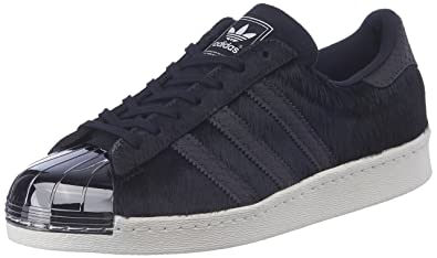 b07de06aad37 Image Unavailable. Image not available for. Colour  adidas Originals  Women s Superstar 80S Metal Toe Black Leather Sneakers ...