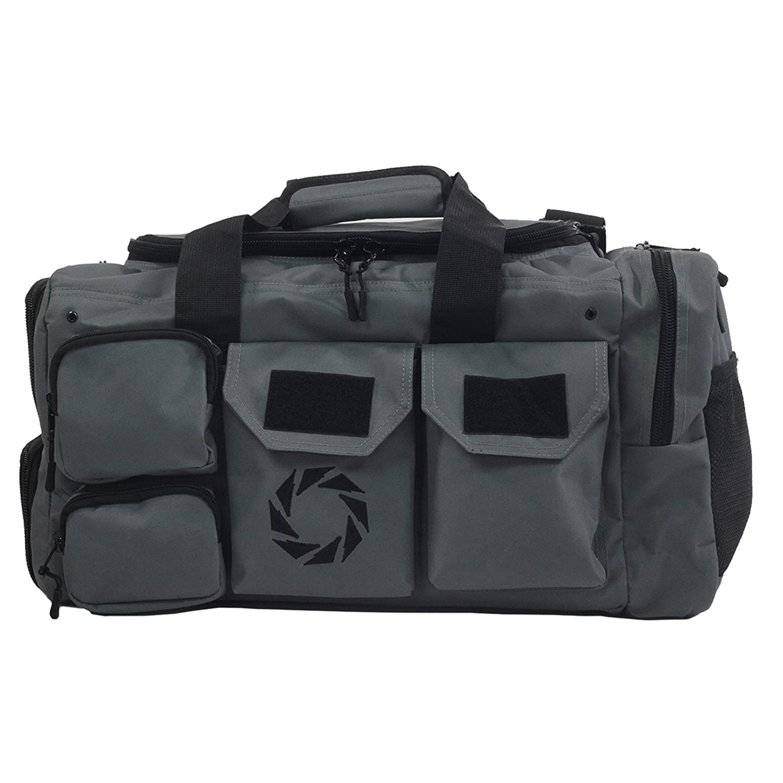 Rigor Gear Workout Duffle Bag with Shoeコンパートメント、Large Wet Dryポーチ、水ボトルホルダー、外側メッシュポケット。Bestジムスポーツダッフル荷物を販売、Carry Onまたは旅行 B079QB8TDV  グレー Large