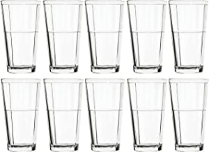 Circleware Pavillion Set of 10 Drinking Glasses, 15.7 Ounce