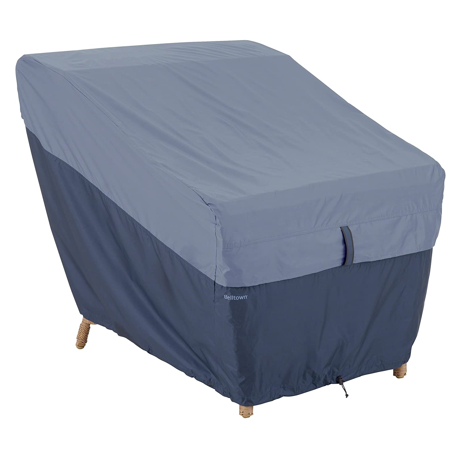 Classic Accessories Belltown Outdoor Patio Lounge Chair Cover-Weather and Water Resistant Patio Set Cover, Grey (55-270-011001-00)