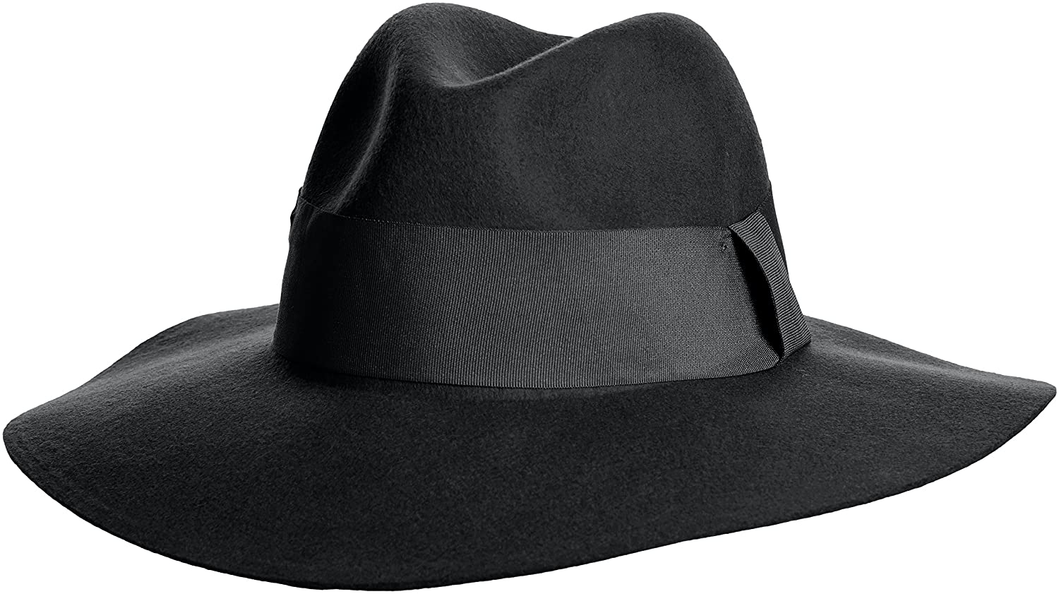 Amazon | (マウジー)MOUSSY wide brim hat 0108AK50-7990 BLK FREE | ハット 通販