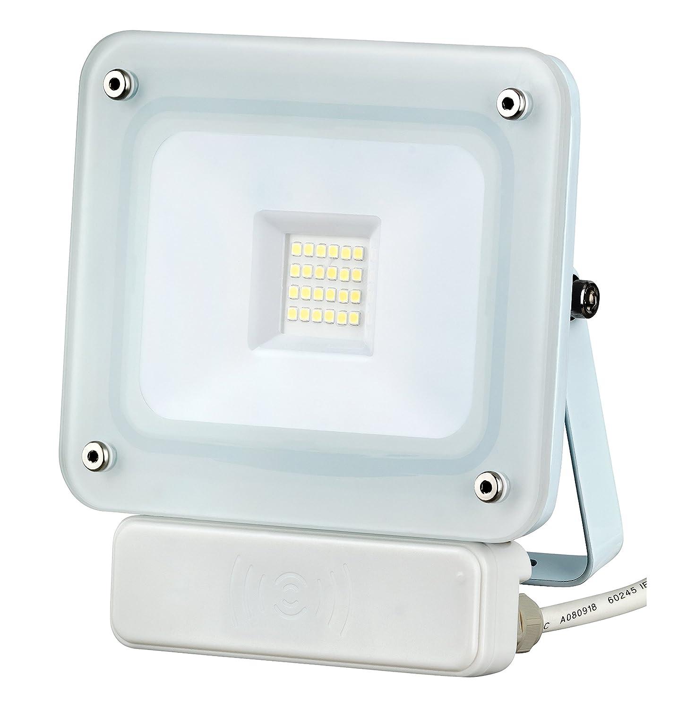 20W LED Fluter Außenleuchte Flutlicht weiß SLIM IP65 Bewegungsmelder ...