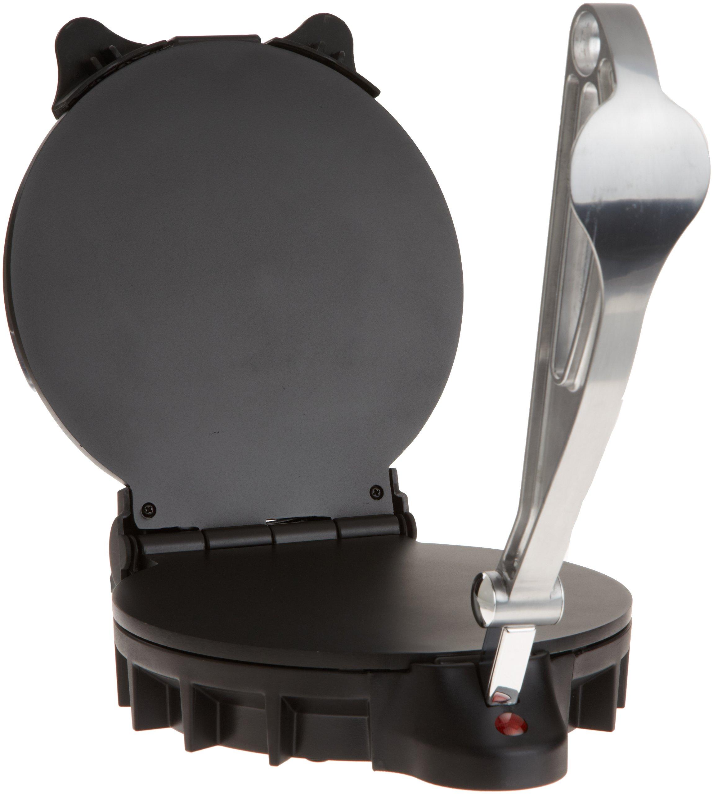 Electric Tortilla Maker- Homemade Flatbread, Pitas, Tortillas- Heavy Duty, Non-Stick Cooker Easier Than Tortilla Press by CucinaPro