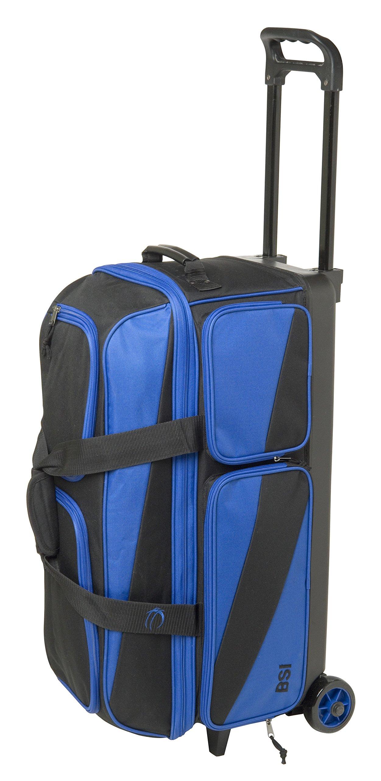 BSI 4301 Triple Roller Bag, Blue/Black