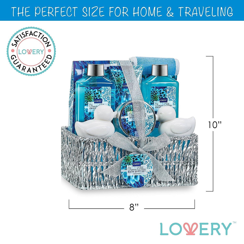 Amazon.com : Spa Gift Basket in Heavenly Ocean Bliss Scent - 9 Piece ...