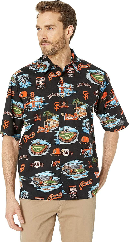29bde546 Reyn Spooner Men's San Francisco Giants MLB Classic Fit Hawaiian Shirt at  Amazon Men's Clothing store:
