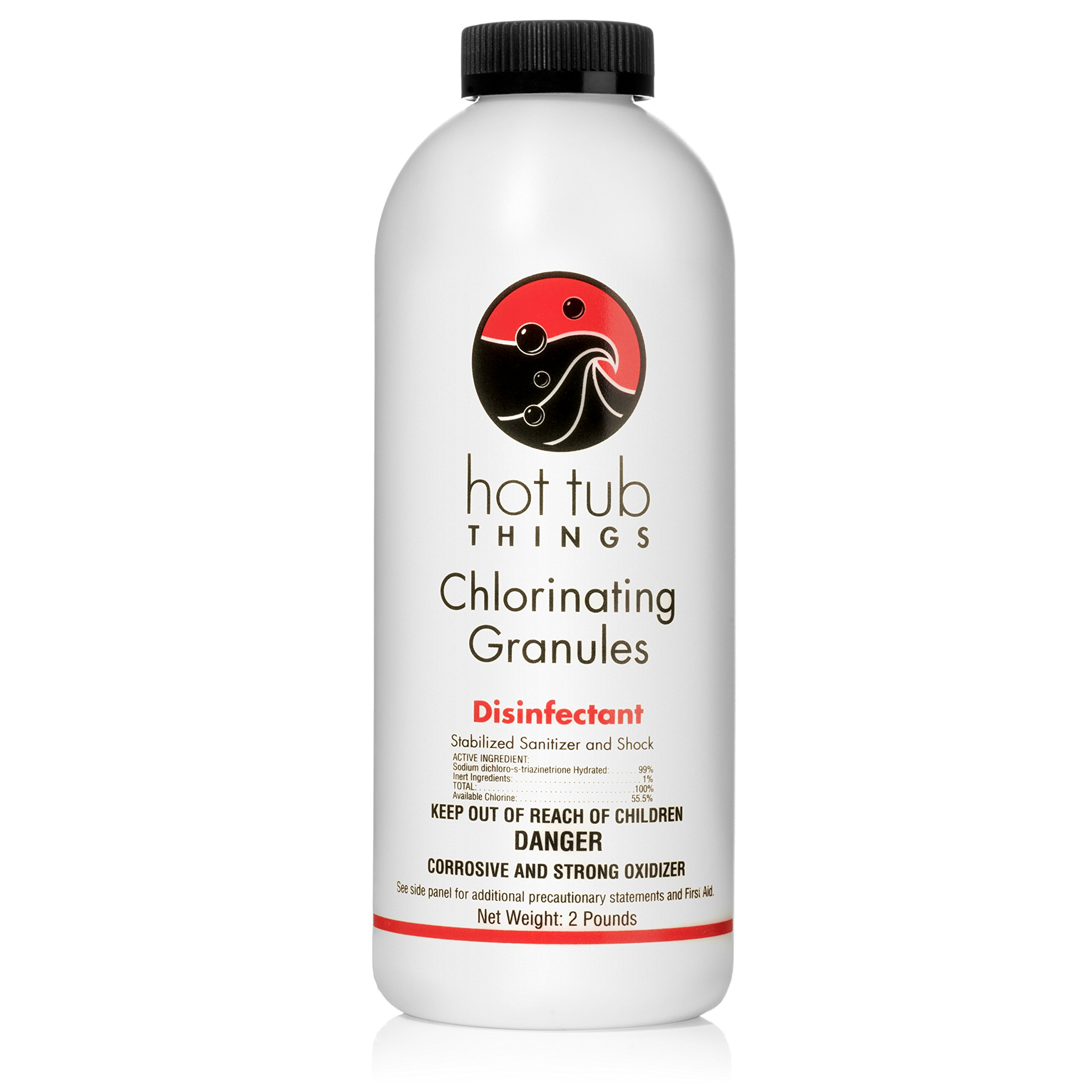 Hot Tub Things Chlorine Granules 2 Pounds - Effective Spa Water Disinfectant by Hot Tub Things