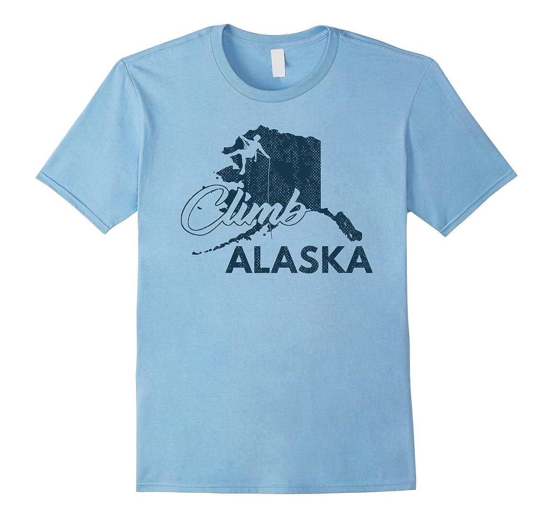 Climb Alaska Rock Climbing State Shirt Climber Hiker Gift