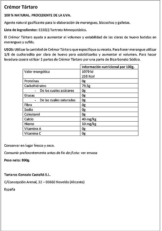 Castelló Since 1907 Crémor Tártaro - Bote de 800 gr: Amazon.es: Alimentación y bebidas