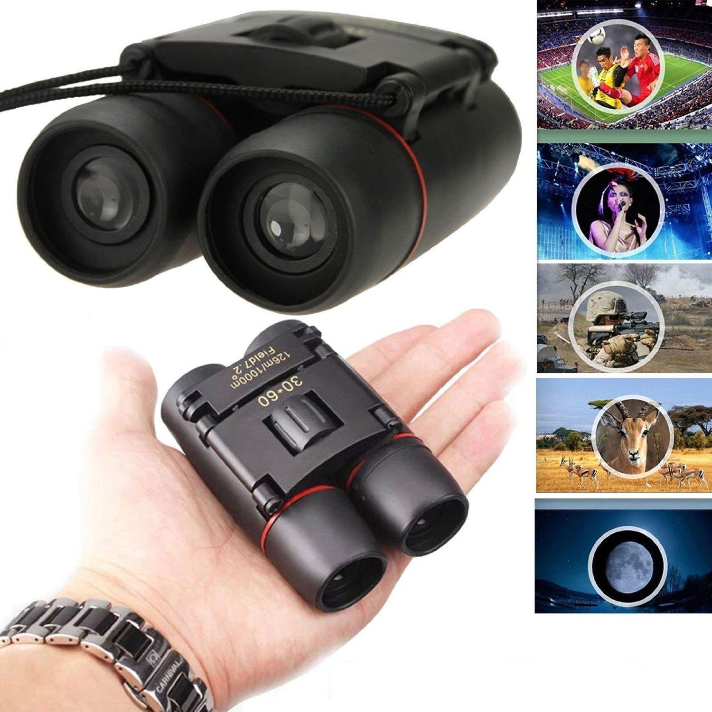 F.DORLA 30x60 Compact Mini Portable Foldable Binoculars Telescopes Day & Night Vision for Birds / Hunting / Camping / Hiking Armoring Outdoor Travel (30x60 Binocular)