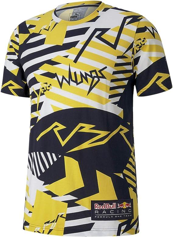 Puma Red Bull Racing Allover Print Herren T Shirt Bekleidung