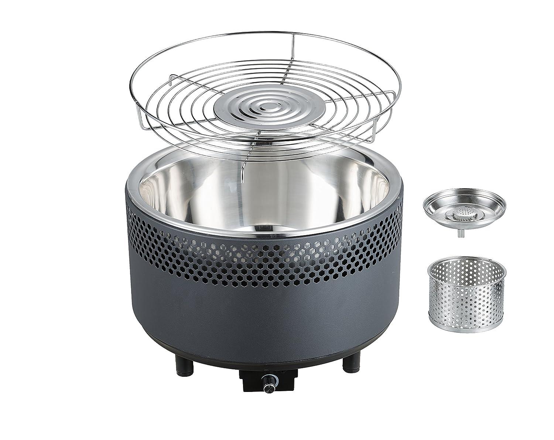 Berndes Rauchfreier Holzkohlegrill : Jx tischgrill rauchfreier holzkohlengrill bbq grill mit turbofan