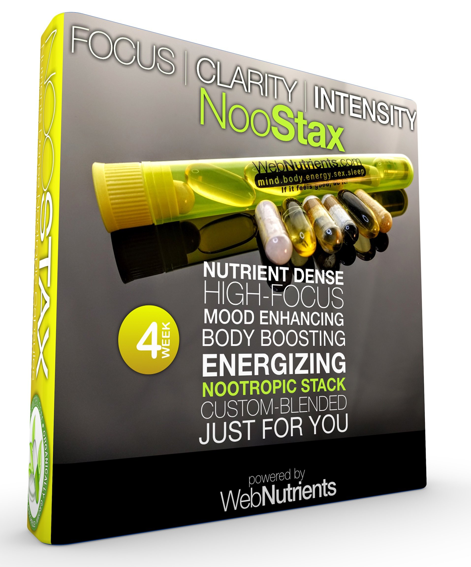 NooStax NZT-48- 20 Doses/4 Weeks - Powerful Nootropic Brain-Boosting Capsule Stacks - All The Nutrition You Need+The World's Most Powerful Nootropic Stacks in Capsule Form