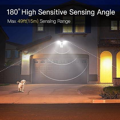 Sensor Dual-Head Light 30W LED Security Light Motion Outdoor ...