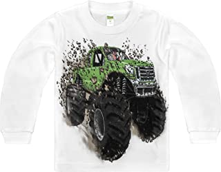 product image for Shirts That Go Little Boys' Long Sleeve Big Green Monster Truck T-Shirt