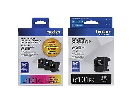 Amazon.com: Brother LC101 Cartuchos de tinta (Negro, Cian ...