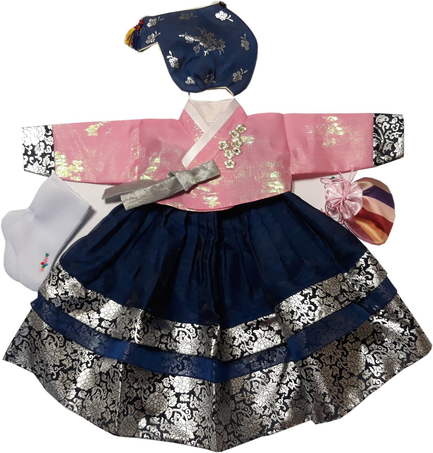Hanboks Korean Traditional Costumes Girls Babies Dress 1st Birthday DOLBOK hg1004/1f