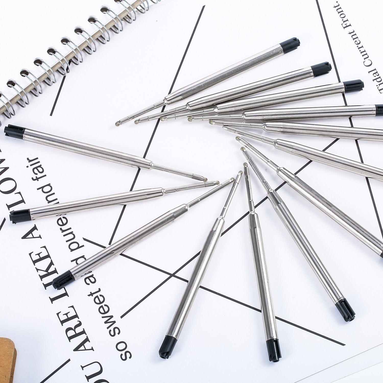 30 Piezas de Recambio de Bolígrafos de Bola Reemplazable Relleno de Metal de Pluma Recambios de Bolígrafos de Punta de Boda de Escritura (Negro): Amazon.es: Oficina y papelería