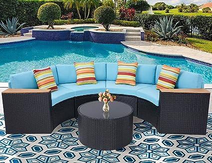 Amazon.com: Incbruce - Juego de muebles de jardín de 5 ...