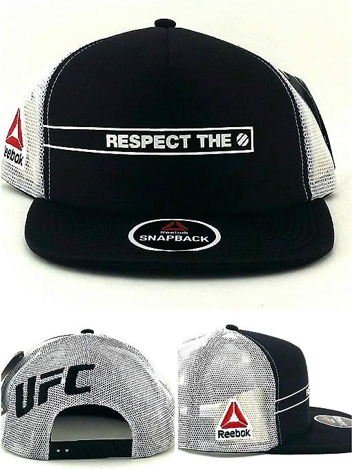 Reebok UFC MMA Respetar el Octagon Negro Blanco Malla camión Gorra ...