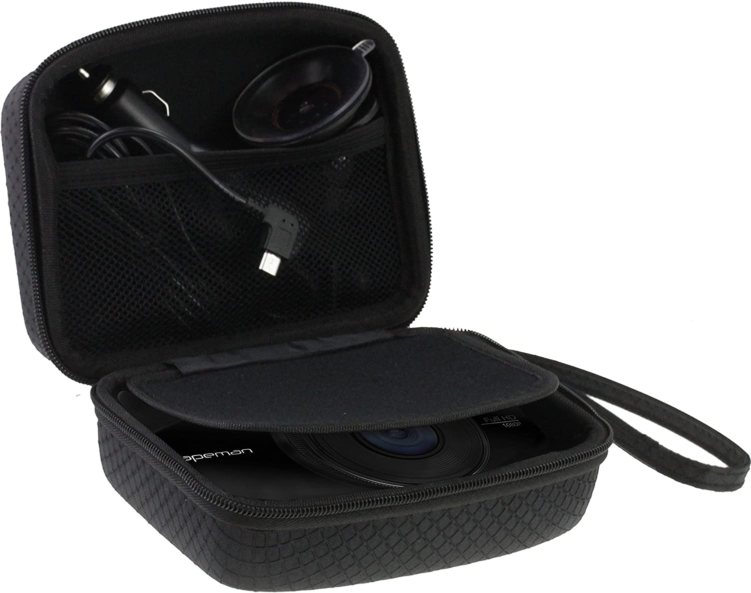 Navitech Car Dash Cam/Camera Carry Case/Bag Compatible with The LESHP (Case Also fits with Windscreen Mount + Car Charger)