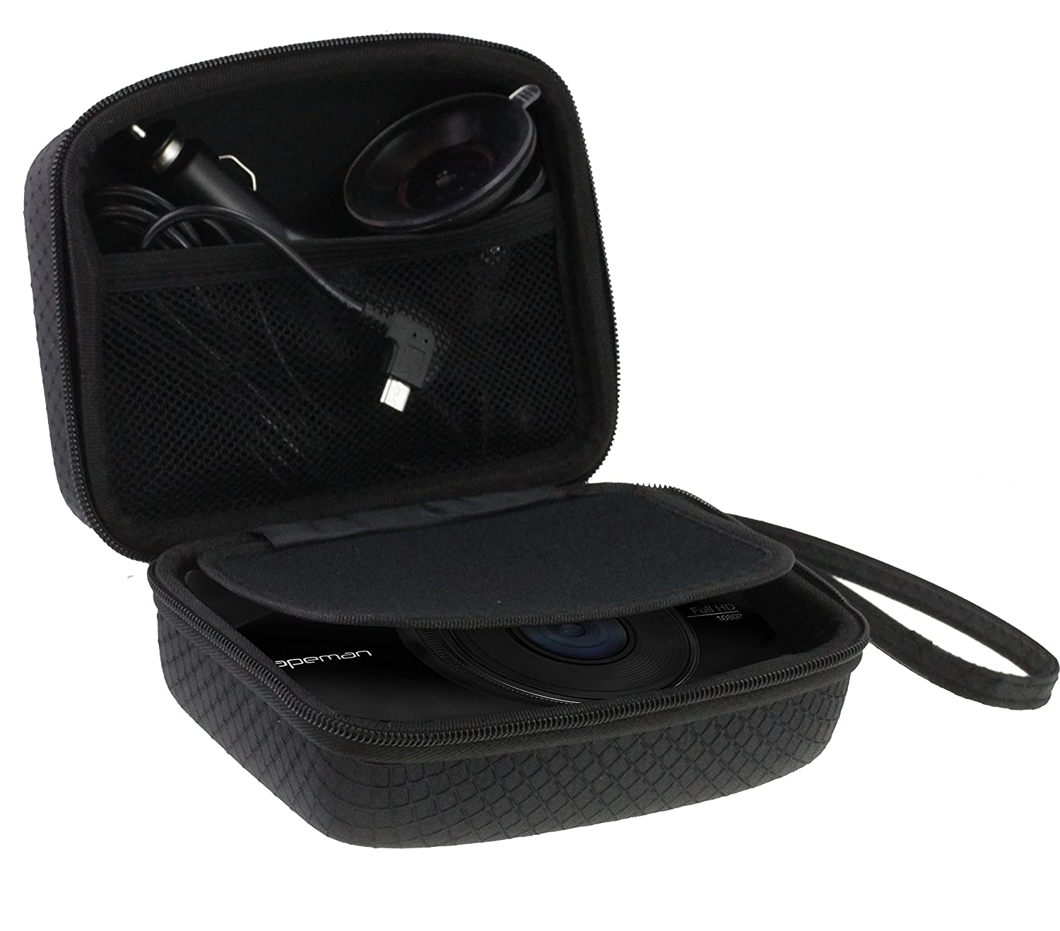 Navitech Car Dash Cam/Camera Carry Case/Bag for the Hyton EC013 (Case also fits with Windscreen Mount + Car Charger)