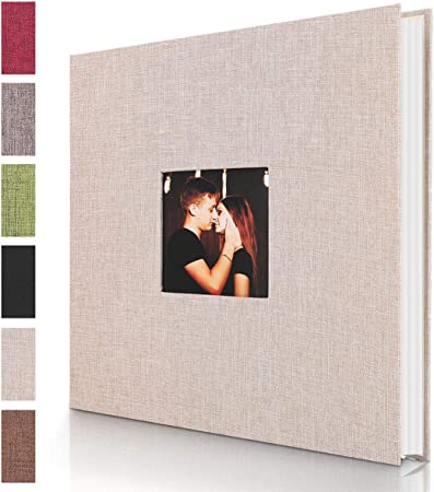 with Photo Album Storage Box DIY Accessories Kit White Self Adhesive Photo Album Magnetic Scrapbook Album 40 Pages Hardcover Length 11 x Width 10.6 inches