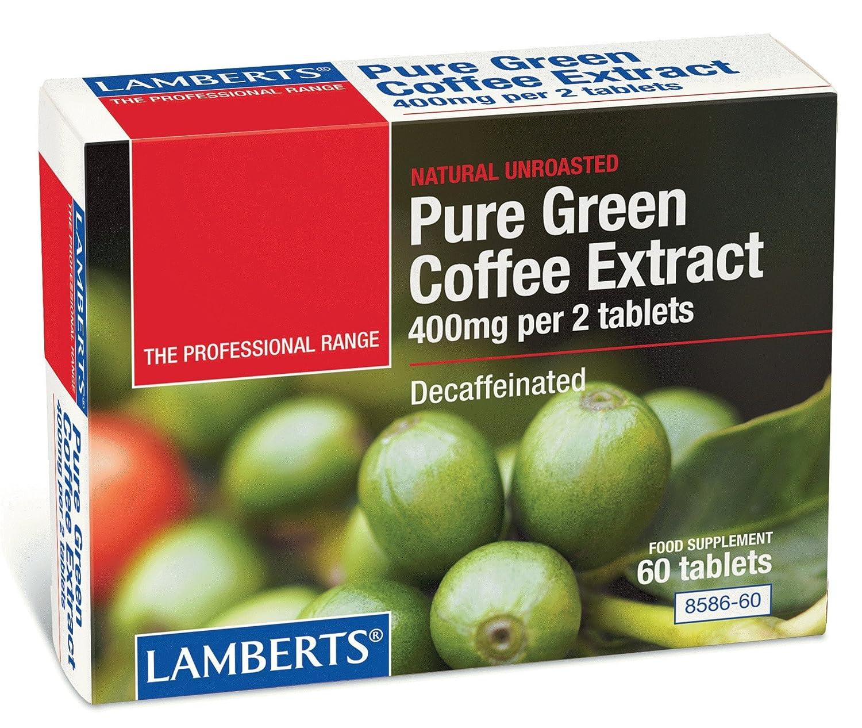 Lamberts Café Verde Puro 400 mg - 60 Tabletas: Amazon.es: Salud y cuidado personal